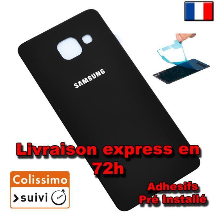 VITRE ARRIERE SUR CHASSIS Samsung Galaxy A5 2016 A510F NOIR VITRE AR