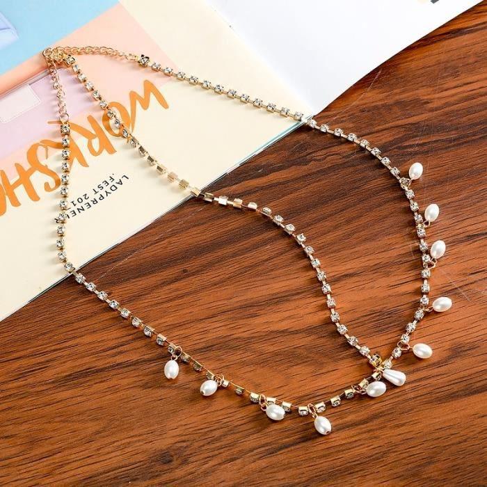 6506A -Haimeikang – bandeau bohème argent et or, accessoires de cheveux, bijoux pour femmes, tête de fleur, chaîne, front, mariage