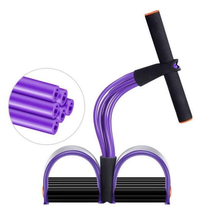 Bandes de Résistance Corde élastique Pédale Fitness Corde D'entraînement Multifonction Physique Gym Fitness-Violet