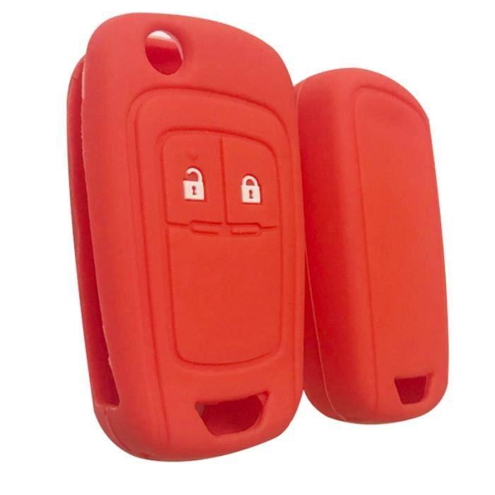 Coque clé,Clé à clé pour Opel Insignia Vauxhall En Silicone, etui à clé pour Buick Regal Lacrosse, Encore Excelle GT-XT - Type red