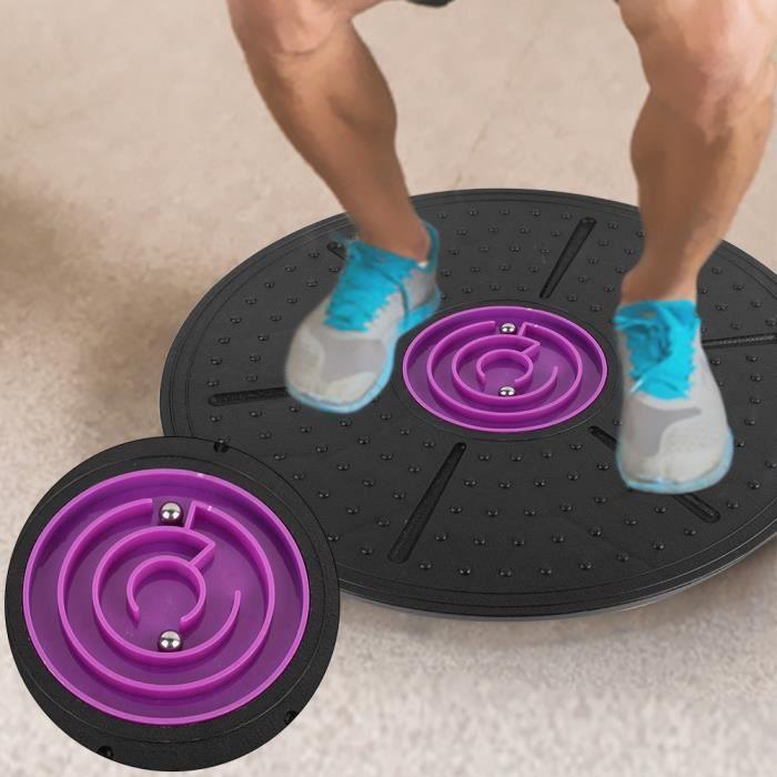 Dioche Planche de yoga Planche d'Équilibre de Labyrinthe Violet Disque Stabilité d'Entraînement de Yoga Fitness