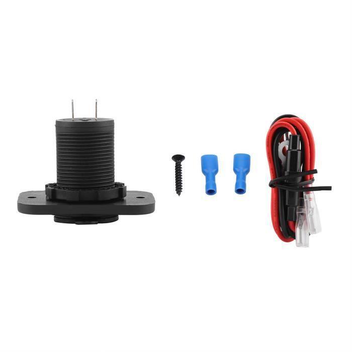 VBESTLIFE chargeur de voiture USB 12V double prise de port USB voiture allume-cigare répartiteur chargeur adaptateur secteur