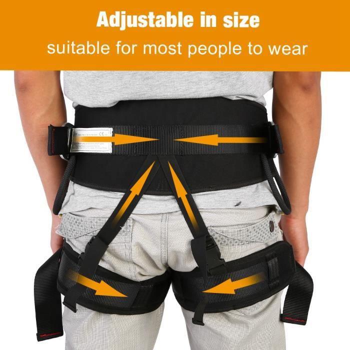 Dioche harnais d'escalade Équipement de protection de harnais de sécurité de ceinture de descente en rappel robuste en plein air