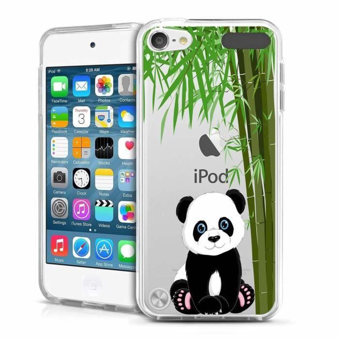 Coque Pour Apple iPod Touch 5 - 6 Panda géant Design Souple Transparent TPU Silicone
