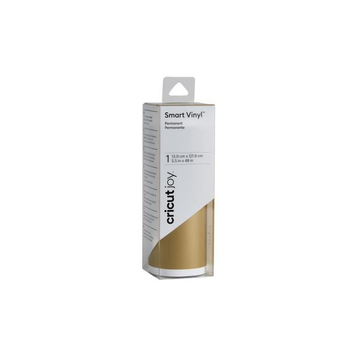 Cricut - Rouleau de vinyle permanent Doré - 13,9 x 121,9 cm