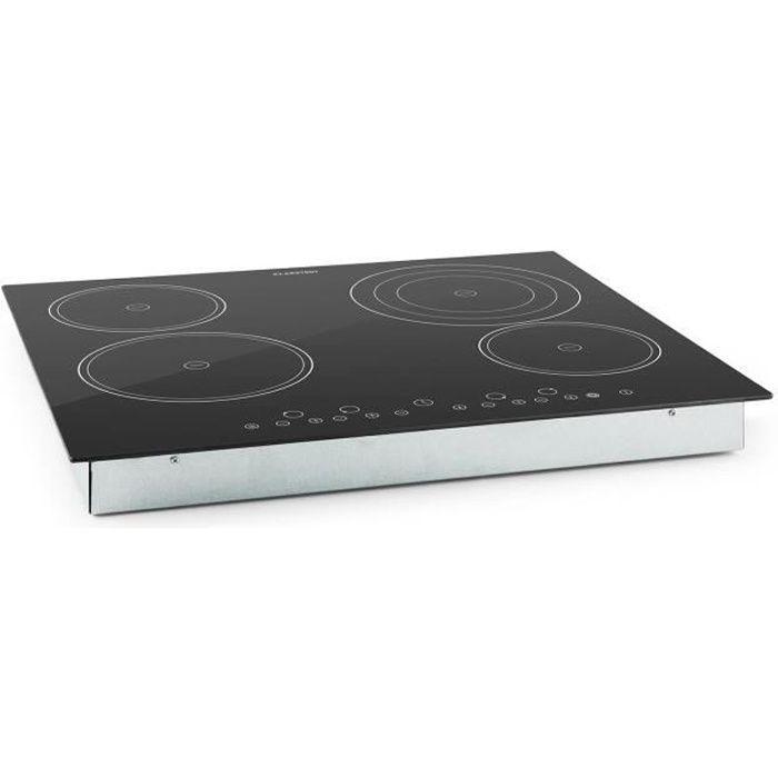 Klarstein Virtuosa - Plaque de cuisson encastrable avec 4 plaques en vitrocéramique d'une puissance totale de 6500W