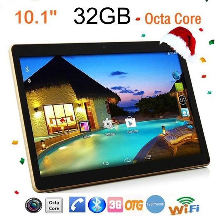 10.1'' tablette pc bluetooth 2 + 32Go double carte double veille double caméra téléphone wifi