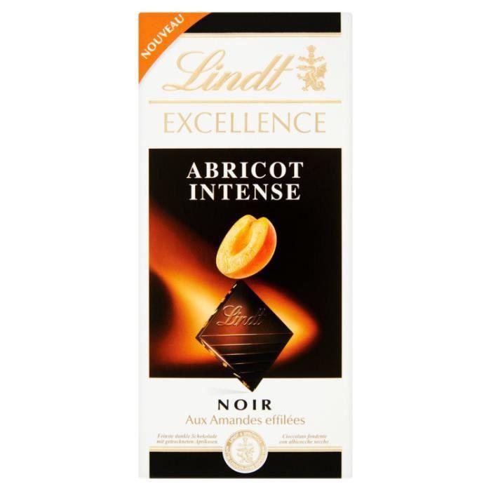 Tablette chocolat abricot intense 0.1 Lindt
