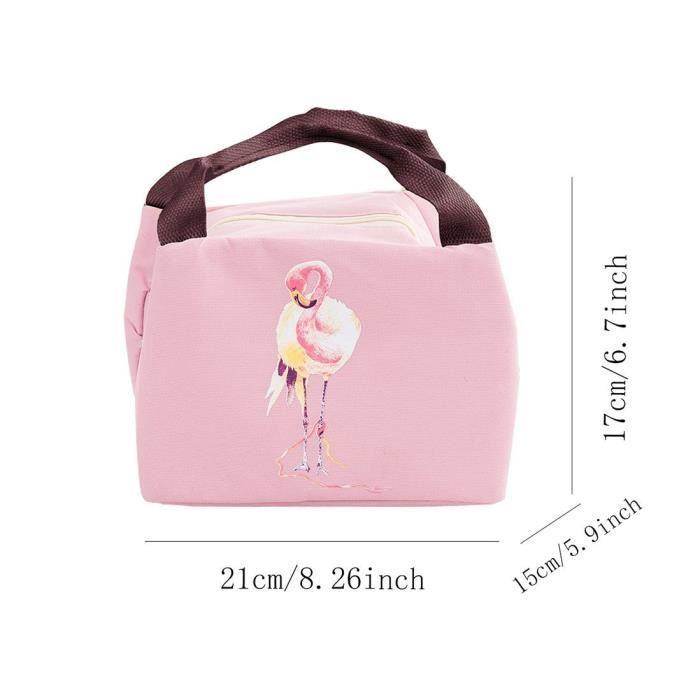 1pcs Cartoon Flamingo Isolation Kit sac à lunch étanche- rose