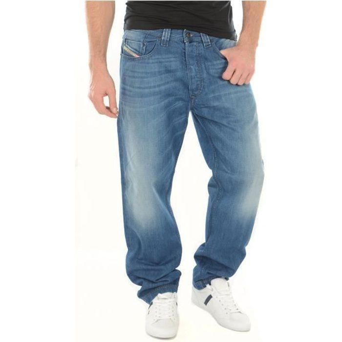 Jean carrot stone Back in the saddle -DIESEL Homme Bleu