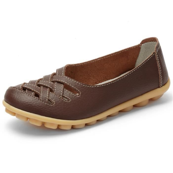 Chaussures Femmes ete Loafer Ultra Leger plate Chaussures BYLG-XZ053Marron36
