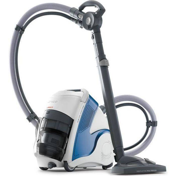 POLTI UNICO MCV80 TOTAL CLEAN & TURBO - Aspirateur nettoyeur vapeur 3en1 - autonomie illimitée - filtre HEPA - 6 BAR - 2200W