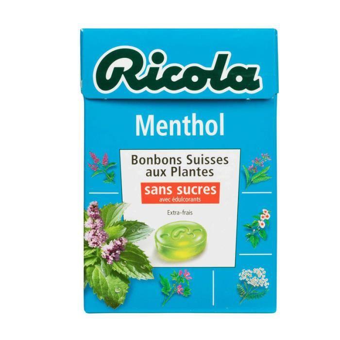 Bonbons suisses aux plantes - Menthol -sans sucres 50g