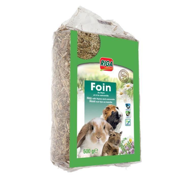 RIGA Foin au thym et la camomille Premium - Pour rongeur - 500 g