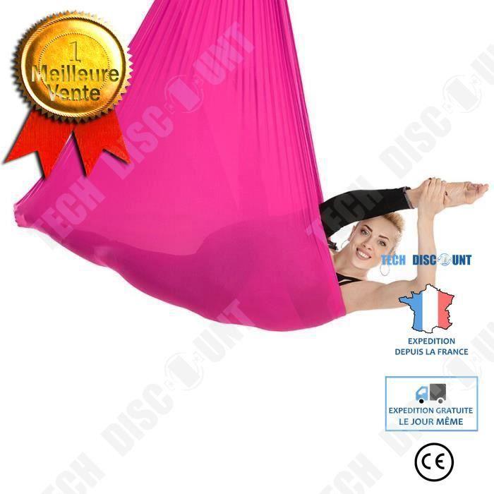TD® Accessoires Fitness - Musculation,Soie aérienne équipement Yoga balançoire soie tissu tissus Yoga hamac moyen - Type HYD012-RE #