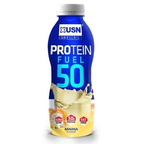 Lot de 6 boissons Banane 500mL USN Trust Protein Fuel 50 - bleu - TU