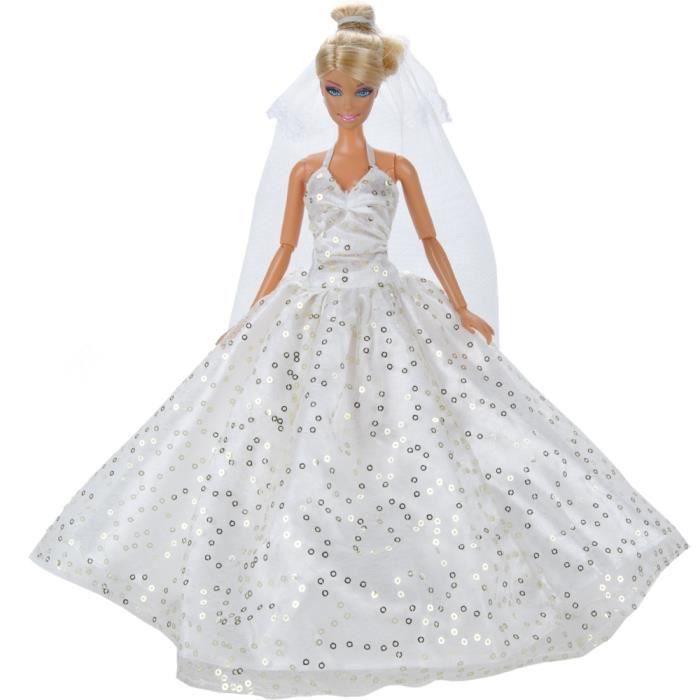 E-TING Fashion Doll Clothes robe de mariage