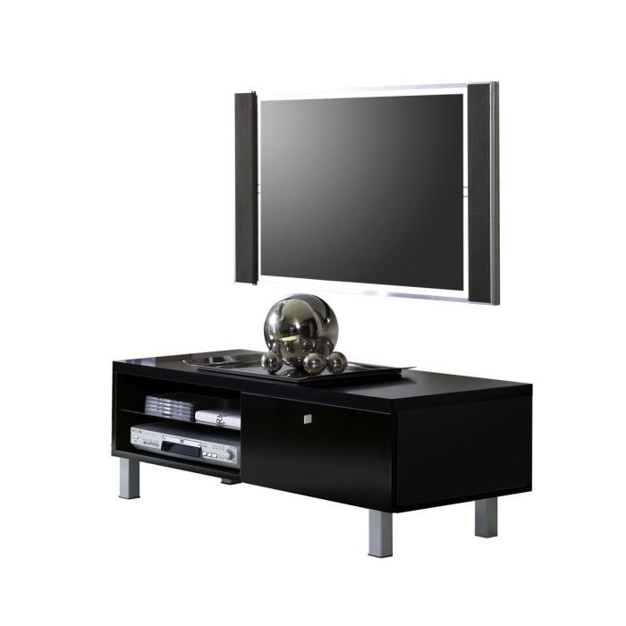 petit meuble tv palace 01 laqu noir achat vente meuble tv petit meuble tv palace 01. Black Bedroom Furniture Sets. Home Design Ideas