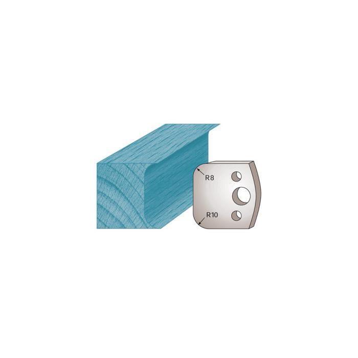 Diamwood Platinum 40 x 4 mm double cong/é M03 pour porte-outils de toupie Diamwood Platinum Jeu de 2 fers profil/és Ht