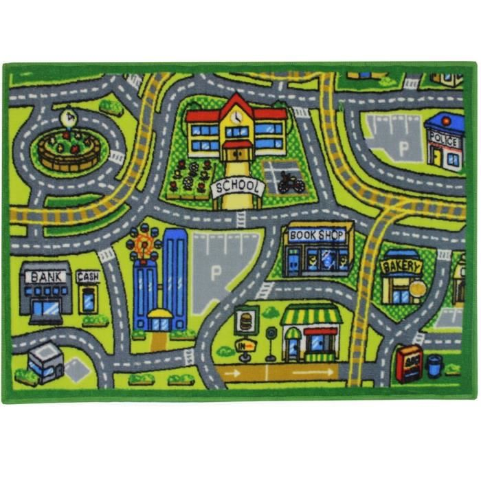 Carte Routi 232 Re De Jvl Enfants Ville Tapis De Jeu 80 X
