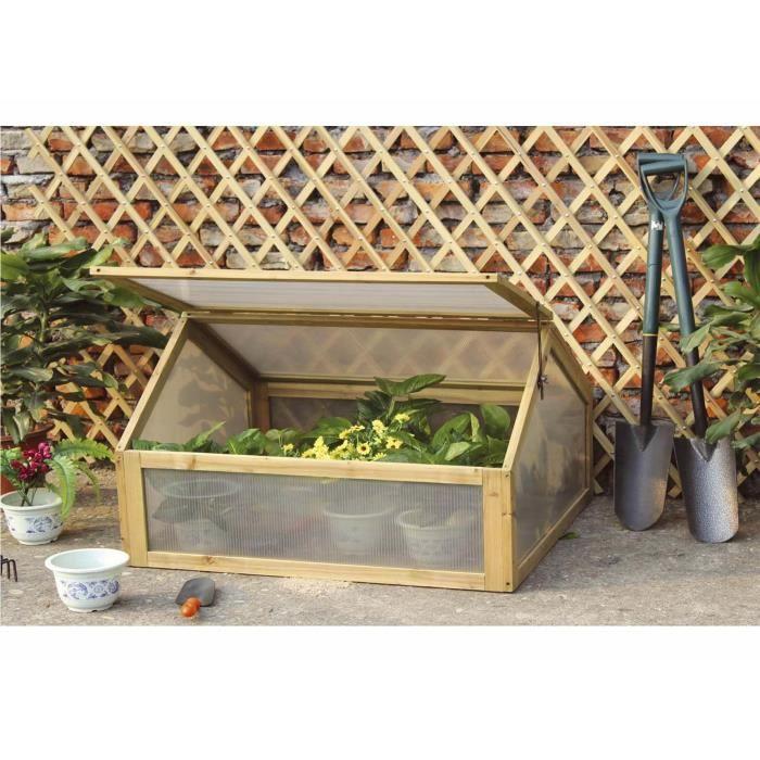 Mini serre de jardin - bois - châssis froid - pour le jardin ...