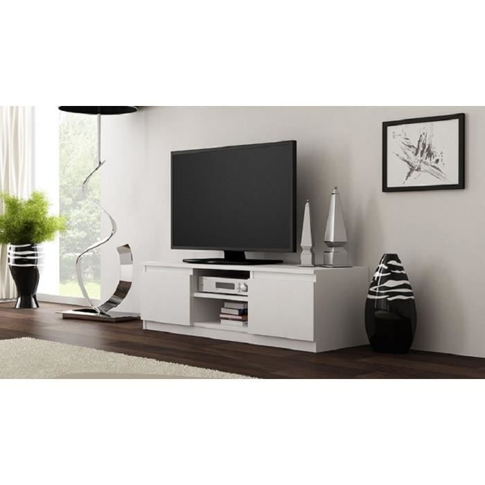 meuble tv clino blanc mat achat vente meuble tv meuble. Black Bedroom Furniture Sets. Home Design Ideas