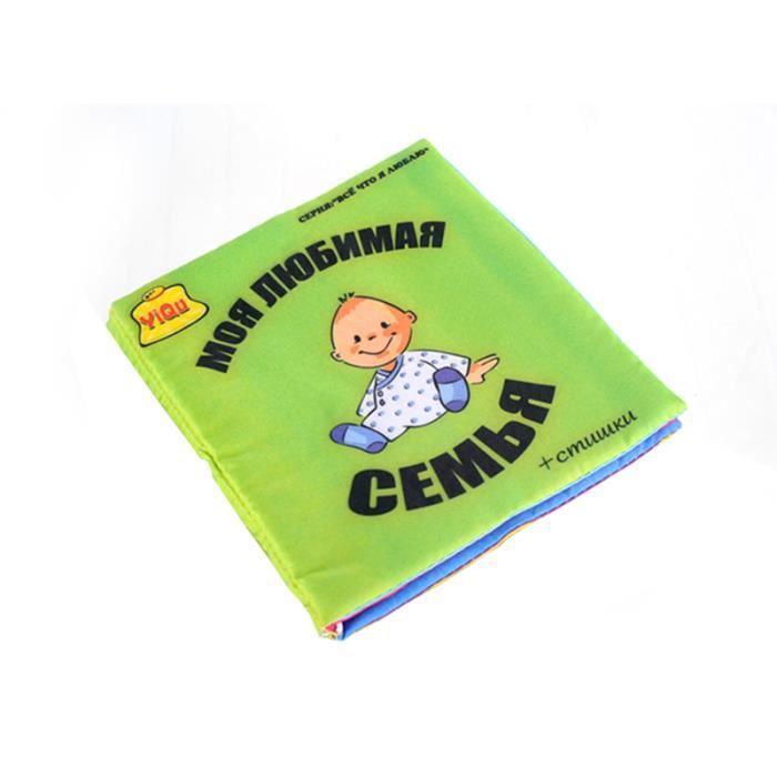 0 12 Mois Bebe Nouveau Ne Livre Tissu Jeux Jouet D Eveil Educative Infantile Langue Apprentissage Famille Style