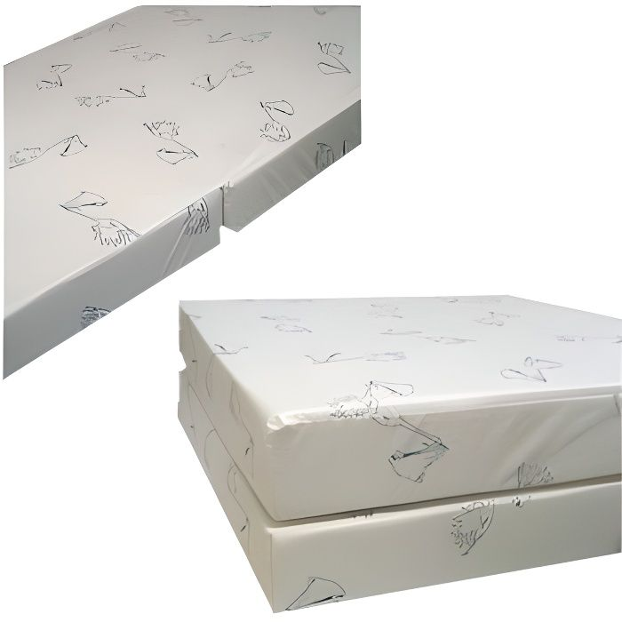 matelas pliant d houssable 60x120 blanc achat vente. Black Bedroom Furniture Sets. Home Design Ideas
