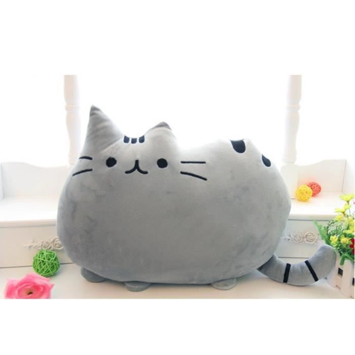 elisona jouet pour chat coussin 40 x 30cm biscuits pour chats gros chat oreiller coussin gris. Black Bedroom Furniture Sets. Home Design Ideas