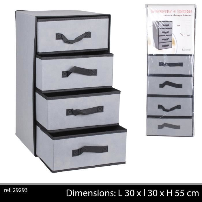 armoire colonne pliante pliable tissu tiroir range achat. Black Bedroom Furniture Sets. Home Design Ideas