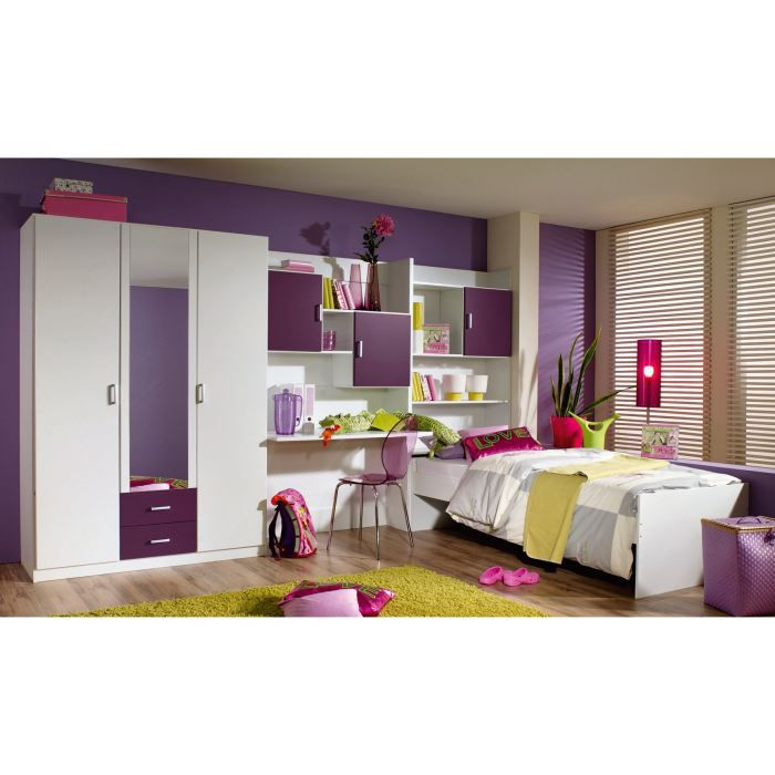 chambre enfant compl te cindy avec tiroir lit achat. Black Bedroom Furniture Sets. Home Design Ideas