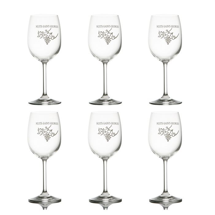 lot de 6 verres d gustation vins de bourgogne achat vente verre vin 6 verres vin. Black Bedroom Furniture Sets. Home Design Ideas