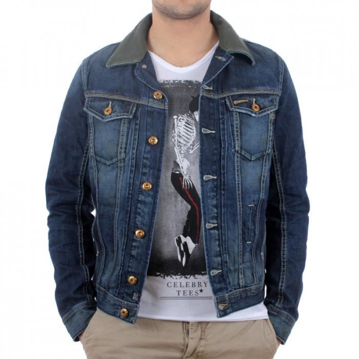 veste en jeans diesel pour homme bleu achat vente. Black Bedroom Furniture Sets. Home Design Ideas