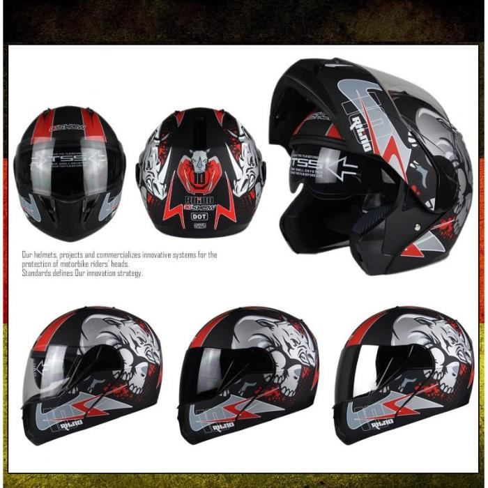 casque de moto integrale modulable rhino du m au xxl achat vente casque moto scooter casque. Black Bedroom Furniture Sets. Home Design Ideas