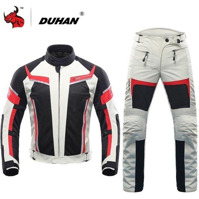 SLIDER DUHAN Hommes Moto Veste + Pantalon D'été Maille Mo