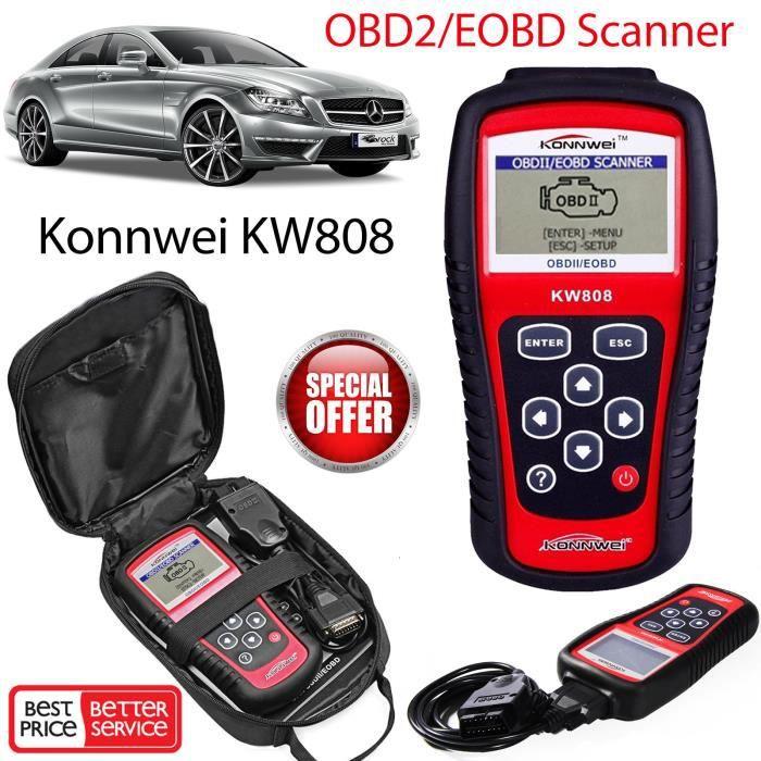Konnwei KW808 ODB2 EOBD Moteur Voiture Code Défaut Lecteur Diagnostic Outil Qi