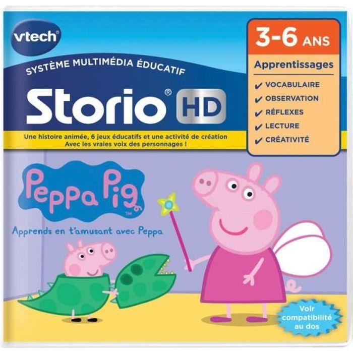 Tablette d'histoire de jeu éducatif Vtech Hd Peppa Pig 273405