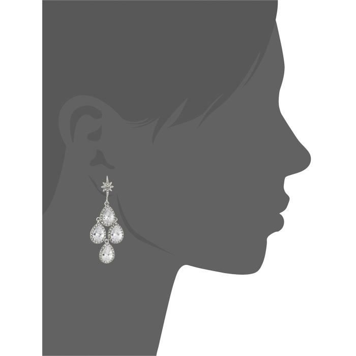 "Betsey Johnson Betsey Blue"" Crystal Stone Chandelier Drop Earring TE0NN"