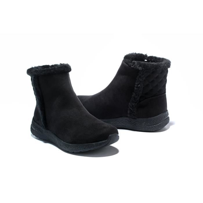 Warm Snow Boots, Winter Warm Ankle Boots,fur Lining Boots,waterproof Thickening Winter Shoes For Wom QPEX9 Taille-39