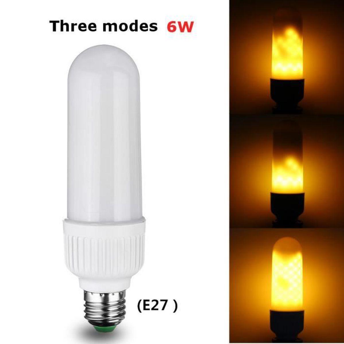 Mes Ampoules Led Scintillent e27 led flamme effet feu ampoule scintillement flamme lampe