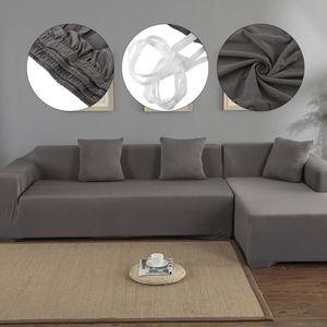 HOUSSE DE CANAPE Housse de canapé de protection 3 + 2 places en L d