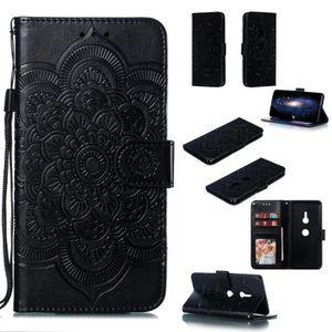 HOUSSE - ÉTUI Pochette Mandala noir Housse Pour Sony Xperia XZ3