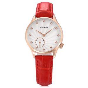 PIECE DETACHEE MONTRE GUANQIN femmes stéréo miroir quartz watch-Rouge