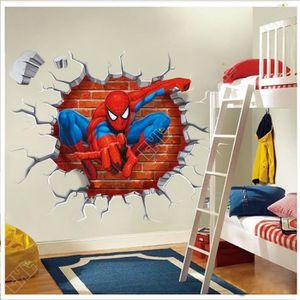 STICKERS  Spiderman 50 * 50 Cm Dessins Animés Sticker Adhés