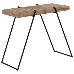 MANGE-DEBOUT Table haute mange debout bar bistrot teck recyclé