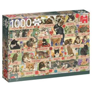 CASSE-TÊTE Jumbo Puzzle 1000 Pièces : Anniversary Cats OXTOT