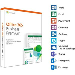 BUREAUTIQUE Microsoft Office 365 Business Premium - 1 utilisat