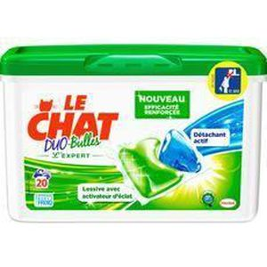 LESSIVE Le Chat Lessive duo bulles expert 20 doses