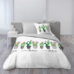 housse de couette cactus achat vente pas cher. Black Bedroom Furniture Sets. Home Design Ideas