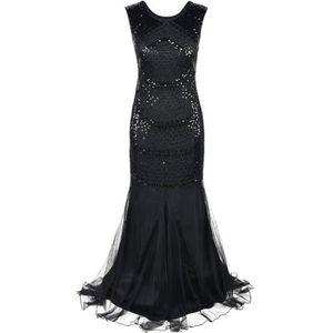 ROBE DE CÉRÉMONIE Les années 1920 femmes robe de bal Flapper Perle s